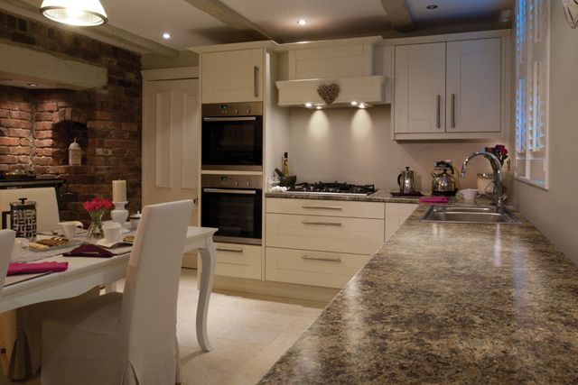 Laminate Kitchen Countertops With White Cabinets