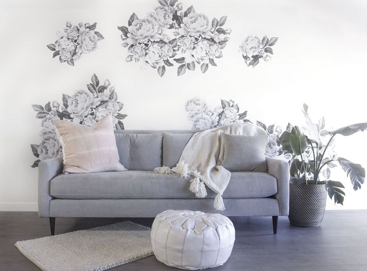 290 best urbanwalls decals images on pinterest one decal two ways greyscale florals gumiabroncs Images