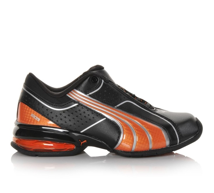 Puma Orange And Black Shoes