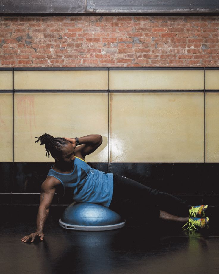 10. Side Crunch #abs #workout #exercises http://greatist.com/move/abs-workout-most-effective-core-moves-to-do-at-the-gym