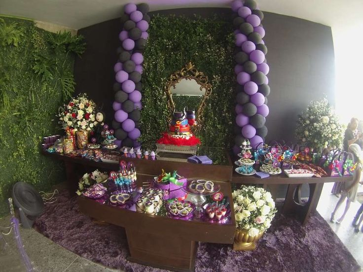 Disney Descendants birthday party! See more party planning ideas at CatchMyParty.com!