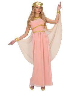 Aphrodite Göttin Damen-Kostüm Antike rosa-weiss-gold - Artikelnummer: 543310000