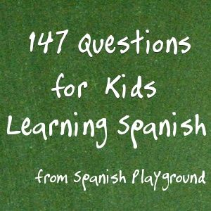 Spanish questions for games and activities. Printable with questions and answers.  http://spanishplayground.net/147-spanish-questions-for-kids/