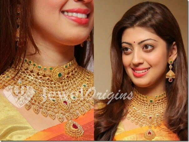 Bridal gold necklace reliance jewels