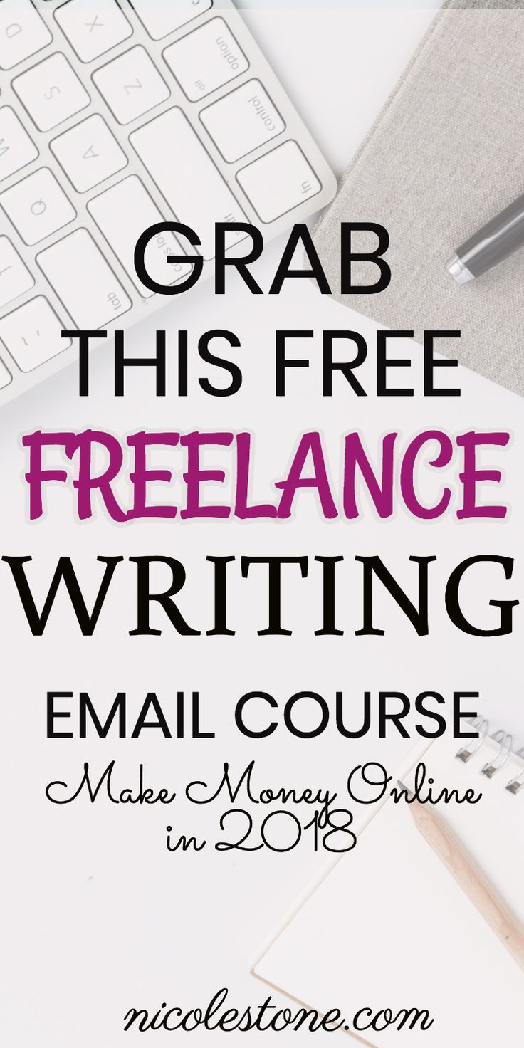FREE Freelance Writing Email Course! Learn how to make money online. Sign up while it's free! #MakeMoneyOnline #freelancer #freelancewriting