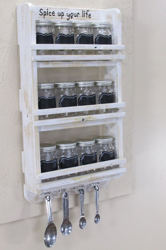 12 Jar Spice Rack Mason Jar Spice Rack Spice Jar Rack Hanging Spice Rack Wood Spice Rack Cott Ideias De Decoracao De Cozinha Decoracao Cozinha Organizacao