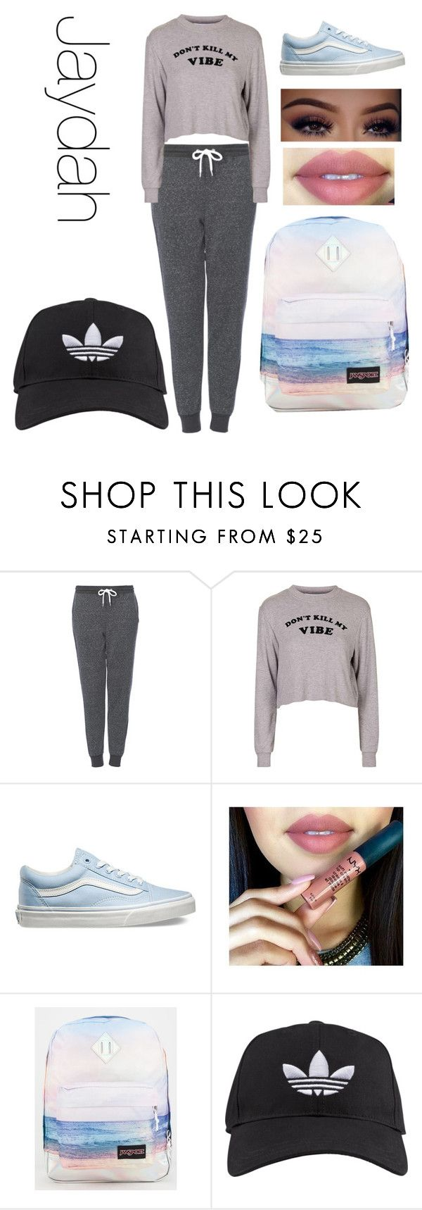 """story for wattpad"" by lauraederveen on Polyvore featuring Topshop, Vans, JanSport, adidas, women's clothing, women, female, woman, misses and juniors"