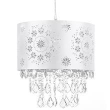 Lampe suspendue avec acrylique découpé