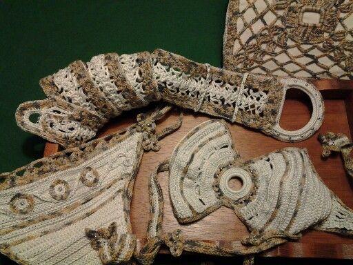 Cintura uncinetto in cotone....cotton belt handmade
