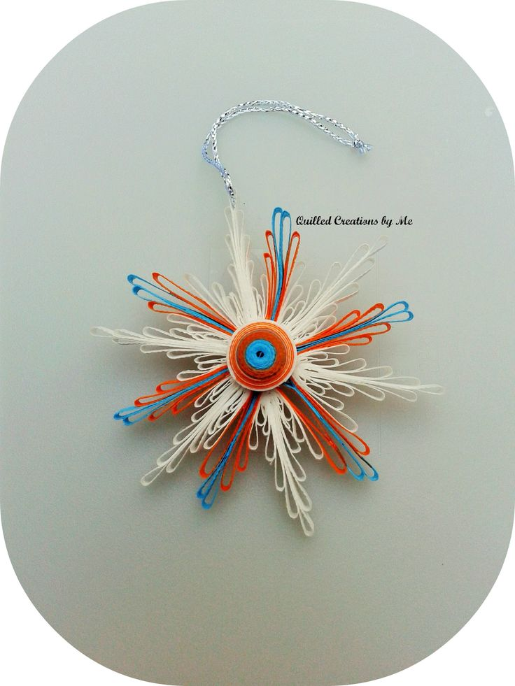 Quilled snowflake made by quilled creations by me for Deco quilling