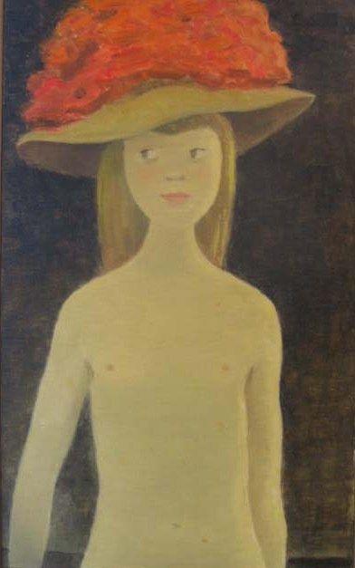 Jean-Paul Lemieux - Young Lady with Hat