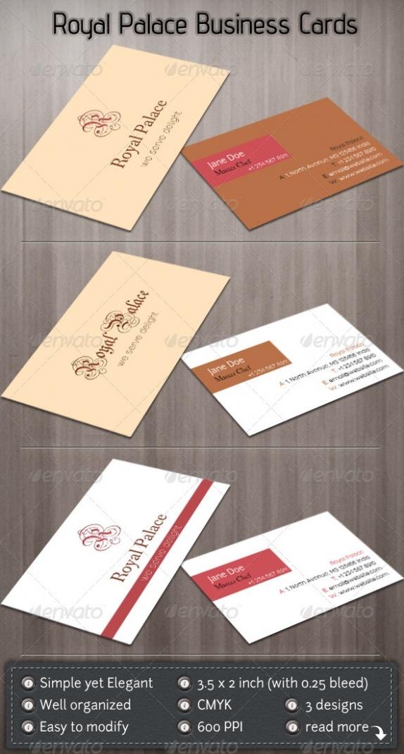 Royal Palace Visit Cards Templates best namecard