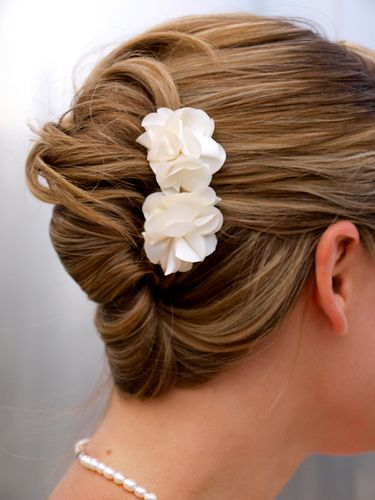 French twist - could use a pretty comb or flowers for some bling