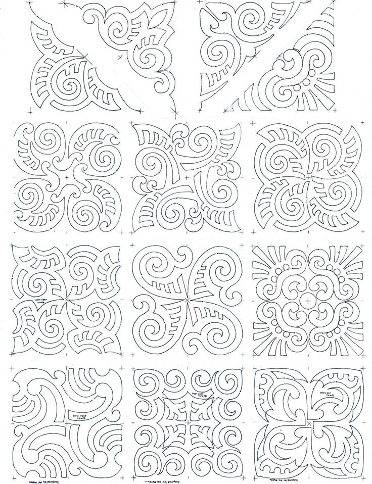 maori moko block set composite