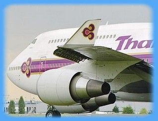 Thai Airways.. biggest plane I've ever been on