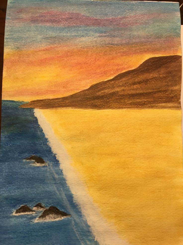 Third try with warter color pencils