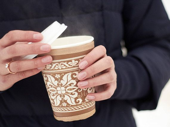 Renaissance design Coffee cup sleeve Coffee cup warmer To go cup Custom travel cup Coffee tumbler Cupkeeper Starbucks sleeve Outdoors-gift Hi there! My name is CUPKEEPER. I am a unique insulated holder for your take-away drinks! I am just like coffee cup sleeve. But more than just a