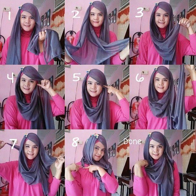Cute Hijab Tutorial With A Brooch