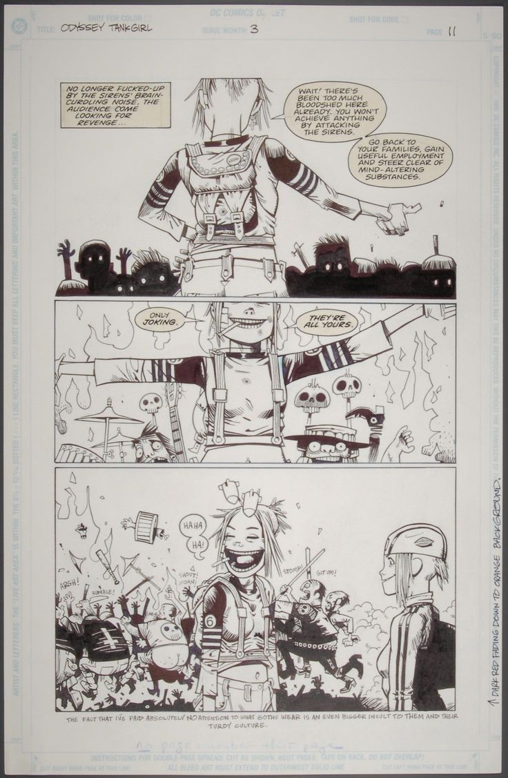 Original artwork for Tank Girl, 1995 (c) Jamie Hewlitt
