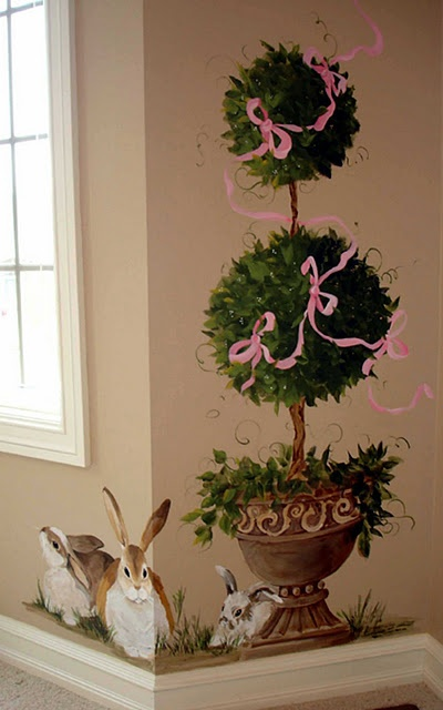 topiary painting found @greatpaintforgreathomes.blog