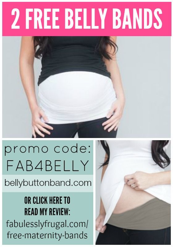 Use coupon code FAB4BELLY to get 2 free belly bands! (Discount is $40... just pay shipping.). More free stuff for new moms: http://fabulesslyfrugal.com/freebies-for-new-moms-carseat-canopy-udder-covers-baby-slings-and-nursing-pads/