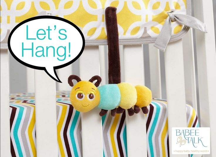 Let's hang! Our Eco-Buds Take-Along Pals are playful friends that babies can take with them on every adventure. They attach to everything quickly and easily. http://www.babeetalk.com/collections/organic-baby-toys
