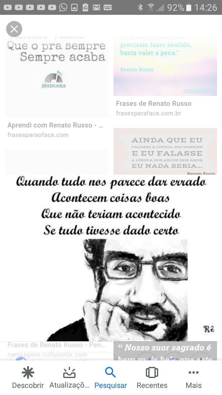 Pin De Virgilio Gomes Em Mensagens Frases De Renato Renato