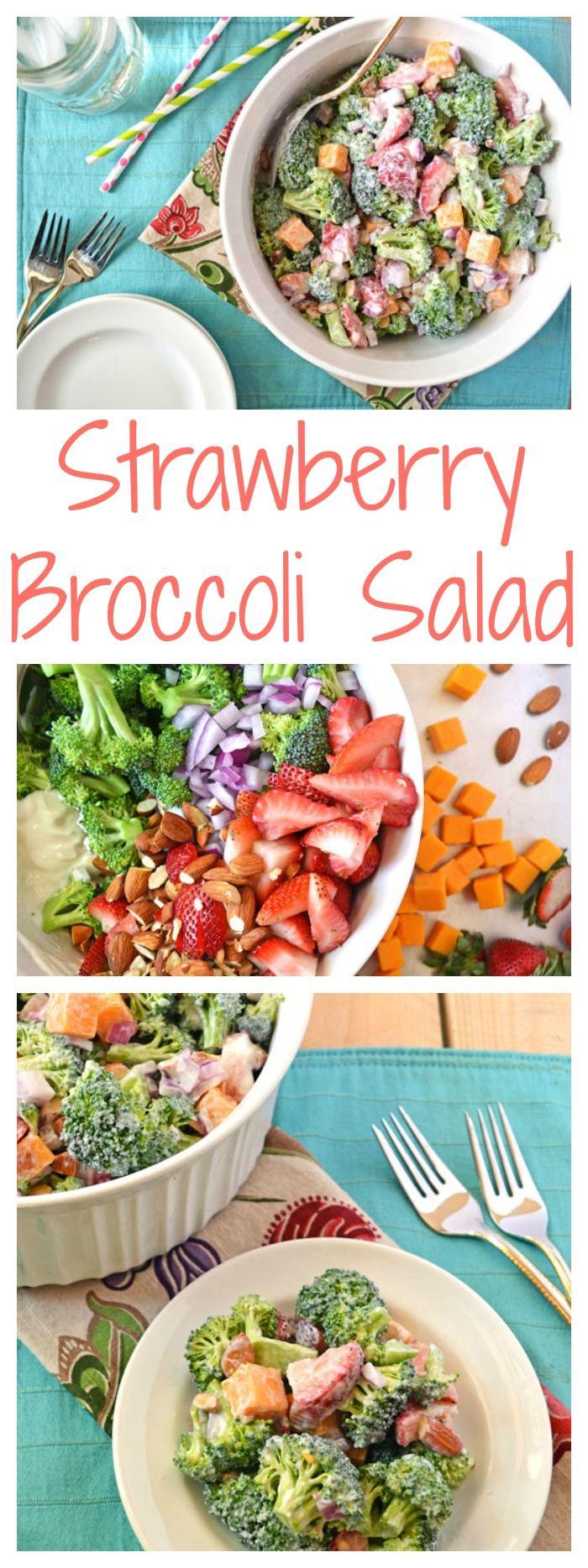 Strawberry Broccoli Salad // Awesome salad recipe!