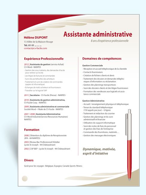 17 best ideas about mod u00e8le cv on pinterest