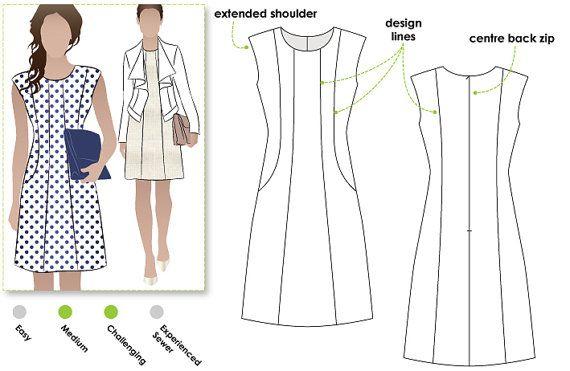 Patti Woven Dress  Sizes 28 30  Woven Dress PDF Sewing by StyleArc