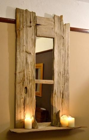 one of a kind driftwood mirror, found on the south coast and up-cycled in to this elegant piece. by Aniky