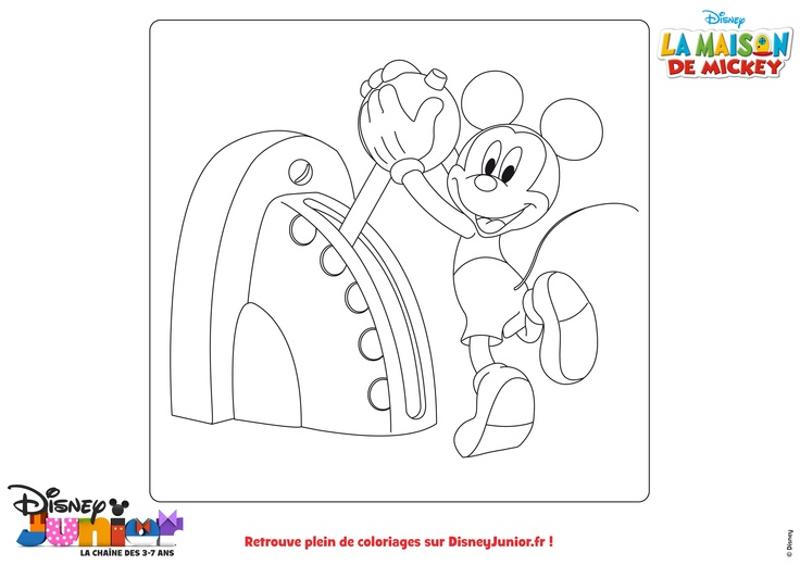 1000 images about mickey on pinterest disney disney mickey mouse and mickey minnie mouse - Coloriage maison de mickey ...