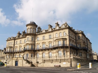 The former Zetland hotel in Saltburn-by-the-Sea UK.....it has a fantastic position on the cliffs overlooking the North sea