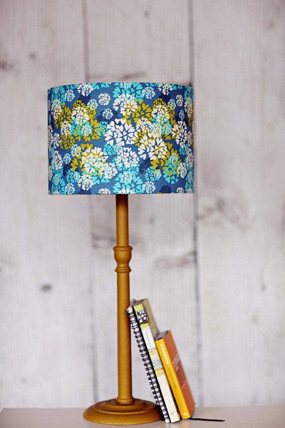 Blue Lampshade blue table lamp Ceiling lampshade Fabric