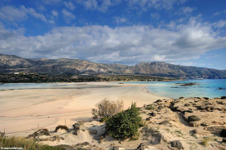 #Greece, #Crete, #Elafonisi beach seen from the 'island'