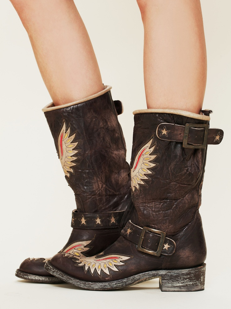 { Old Gringo Boots Rock Eagle Engineer Boot at Free People Clothing Boutique [$798] }