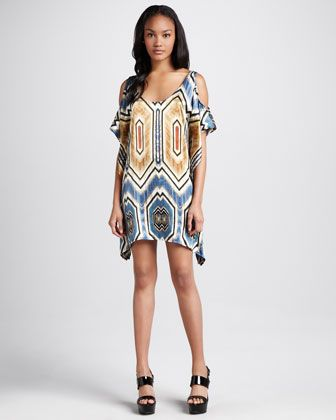 Hatton+Tribal+Cold-Shoulder+Dress+by+SW3+Bespoke+at+Neiman+Marcus.