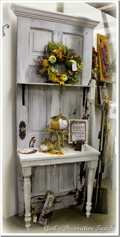 Repurposing An Old Door Gail S Decorative Touch The
