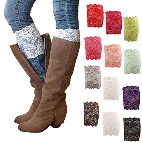 HP95(TM) Womens Stretch Lace Boot Leg Cuffs Soft Laced Boot Socks (A) HP95(TM) http://www.amazon.com/dp/B01463793C/ref=cm_sw_r_pi_dp_yfj6vb17BB00K
