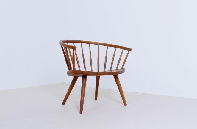 yngve ekstrom arka chair swedese oak natural wood scandinavian design|Cencity.nl