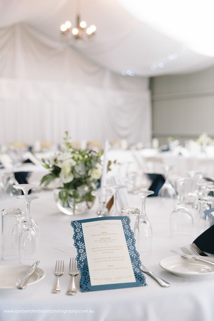 Wedding menue, navy, country shed wedding