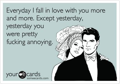 okay, i think every successful marriage has days like this.
