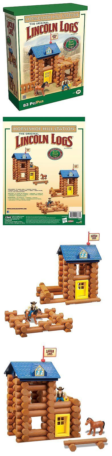 Lincoln Logs 19013: Lincoln Log Horseshoe Hill Station -> BUY IT NOW ONLY: $42.95 on eBay!
