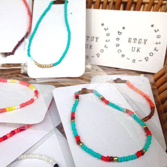 Variety of multicolored stretchy friendly bracelets x 3