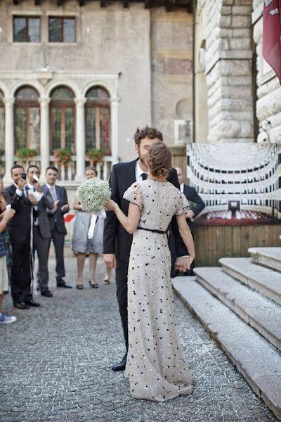 polka dot Valentino wedding dress