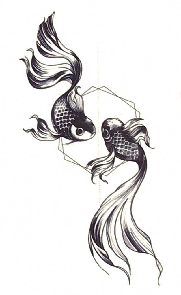 Small Pisces Koi Fish Tattoo Ideas For Women Black And White Japanese Ying Yang Ring Temporary Tattoos Ww Japanese Tattoo Koi Fish Tattoo Tattoos For Guys