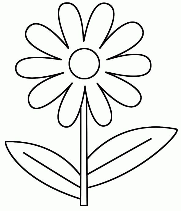 flower coloring pages - 4 Year Old Coloring Pages