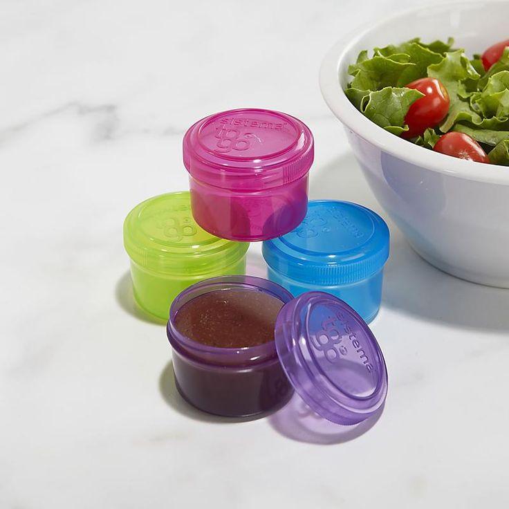 Sistema Klipit To Go Salad Dressing Container Set/4 35 Ml Asstd. | Kitchen Stuff Plus
