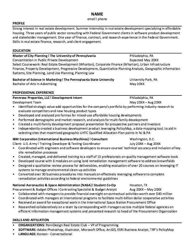 NASA Student Co-oP Resume Sample - http\/\/resumesdesign\/nasa - sample real estate resume