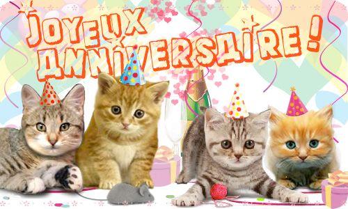 La chorale de chatons | Carte joyeux anniversaire, Bonne fête et Carte anniversaire